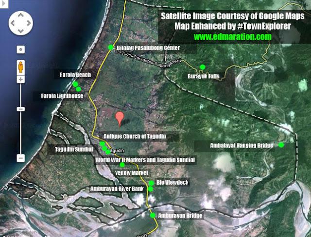 Tagudin Map Points of Interests