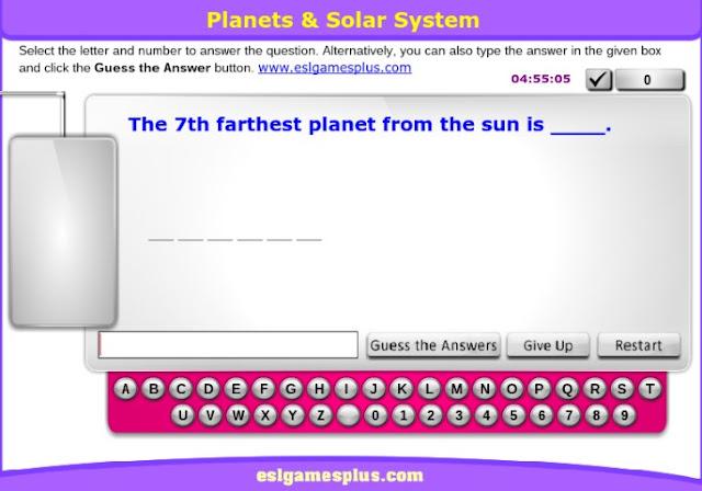 Free online solar system games