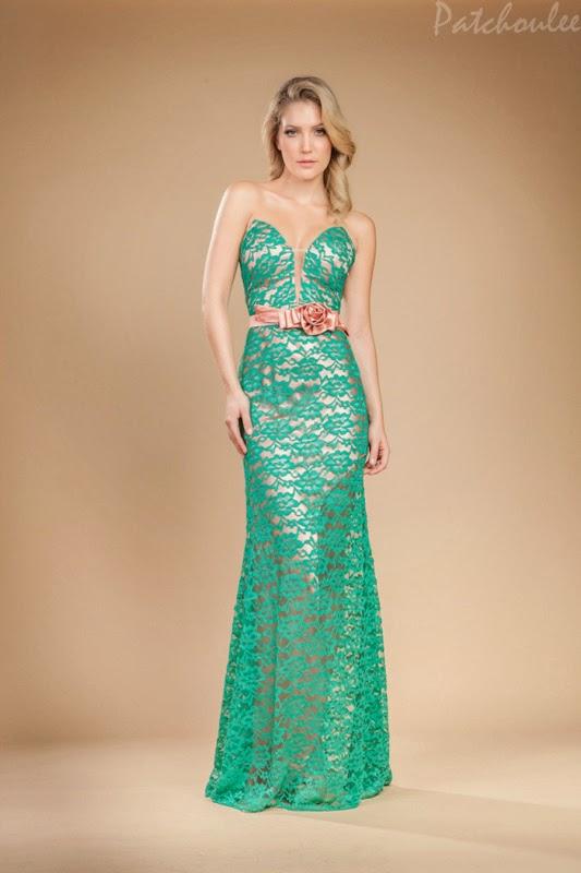 Vestido Social Longo Verde Vestido Longo de Renda Verde