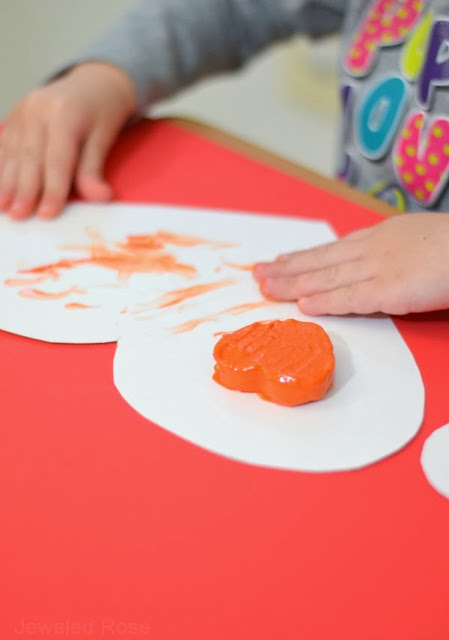 Melting heart paint- a fun art activity filled with sensory exploration