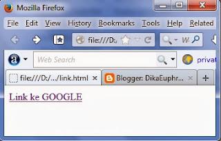 contoh dari hasil code link HTML