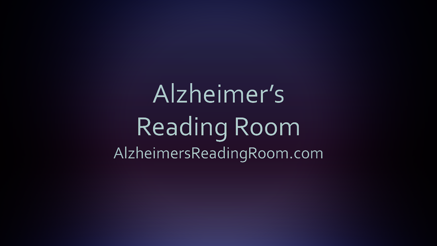 Alzheimer's Readaing Room