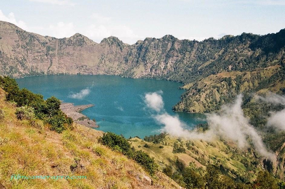 The Crater Lake of Rinjani