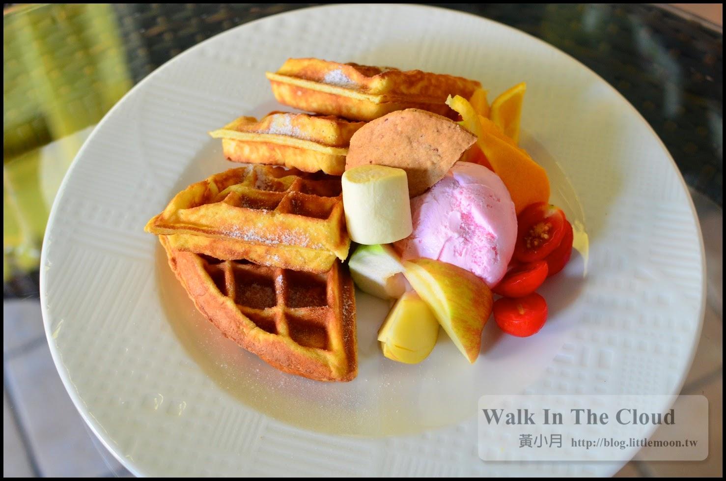 季節水果冰淇淋鬆餅(180元)