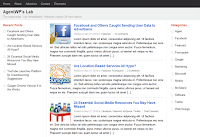 Screenshot: Free Download Google+ Template for WordPress Theme