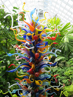 End of the Day Tower by Dale Chihuly