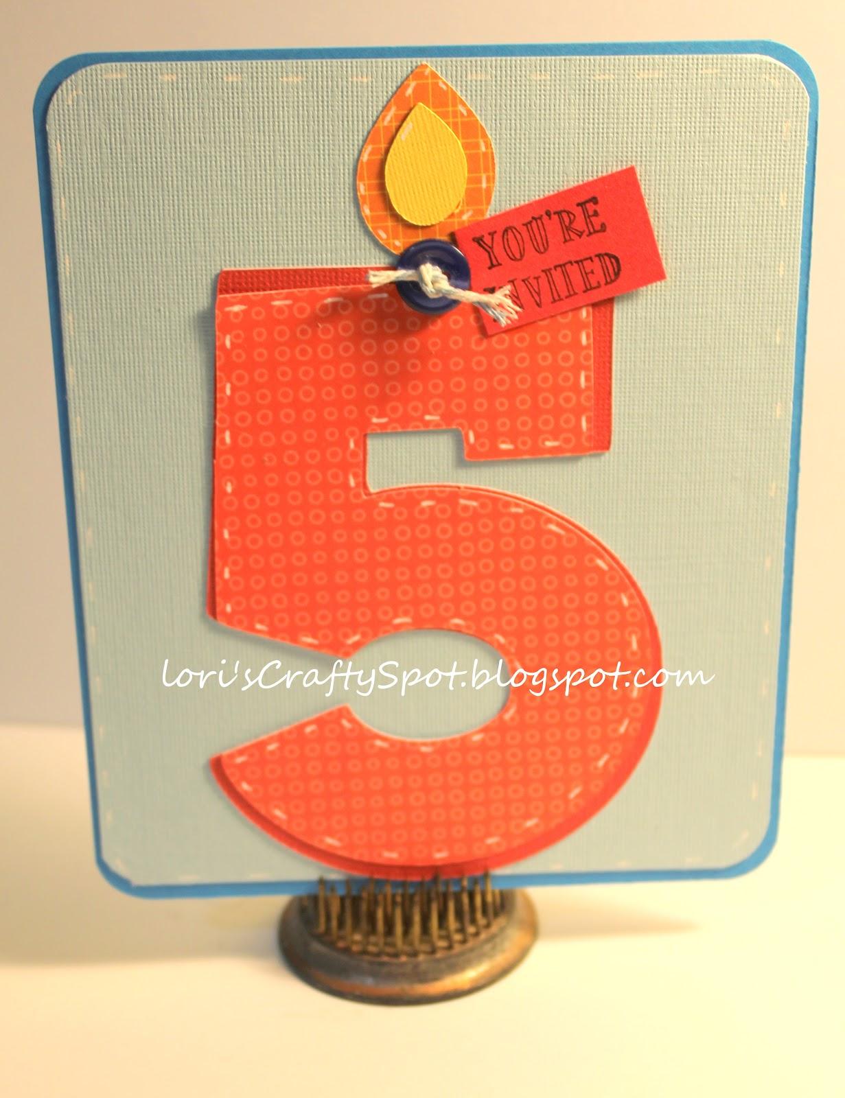 Lori s Crafty Spot Five Year Old Birthday Invitations