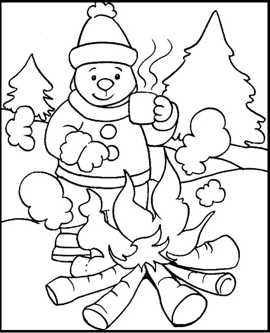 4 Seasons Colouring Sheets : Holiday and seasonal coloring pages