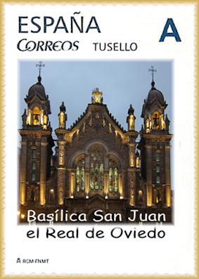 Sello personalizado de la iglesia de San Juan el Real de Oviedo