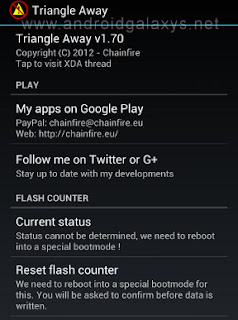binary counter reset for galaxy s3