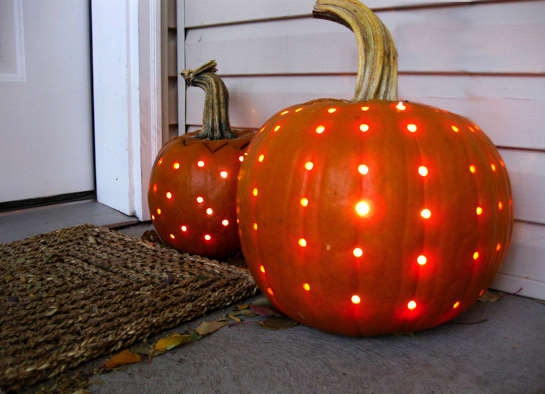 polka dot pumpkin - Pumpkins Decorations