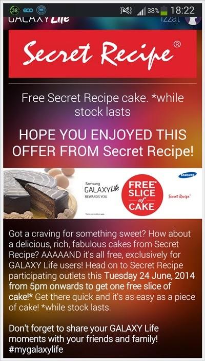 Kek Secret Recipe Percuma Khas Untuk Galaxy Life