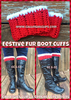 Festive Fur Boot Cuffs