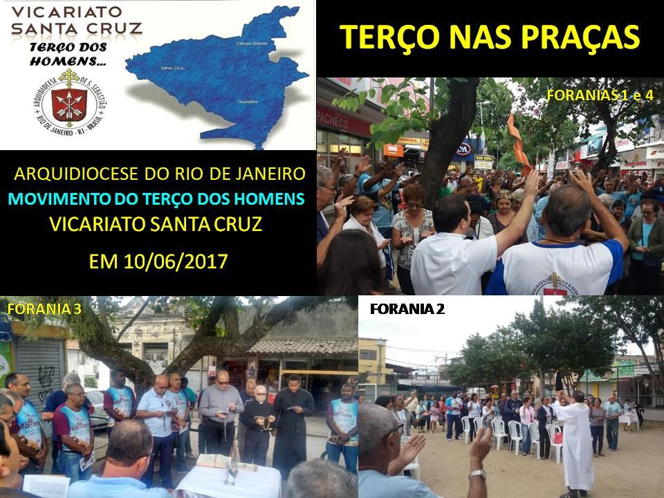 TERÇO NAS PRAÇAS - VICARIATO SANTA CRUZ - 10/06/2017