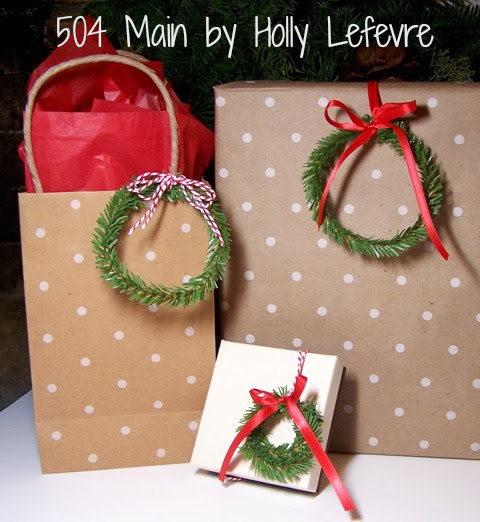 Wreath Gift Toppers by 504 Main