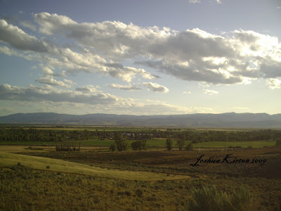 Mountains and Fields near Bear Lake Utah