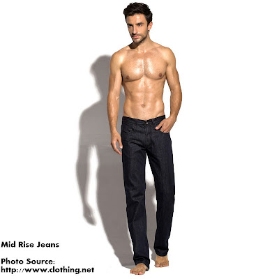 Mid Rise jeans for men
