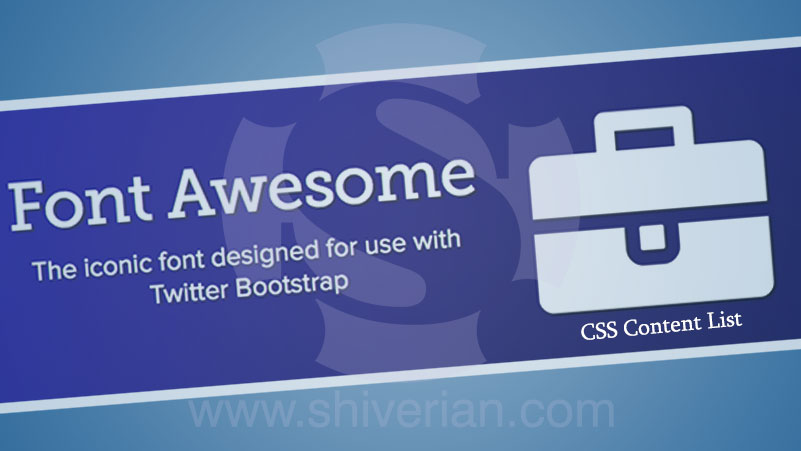 Font Awesome CSS Content List
