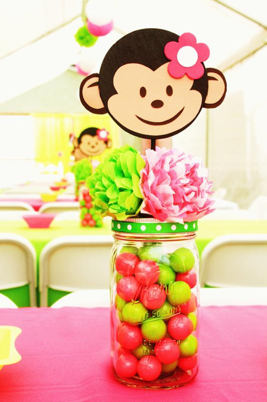 Whimsy wise events going bananas over a pink mod monkey