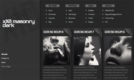x10 Masonary Dark Blogger Template