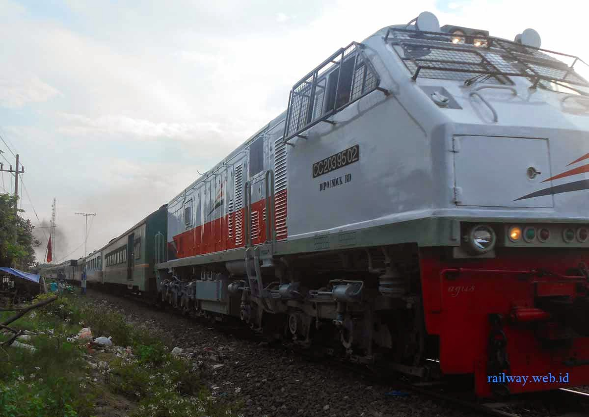 gambar cowhanger merah lokomotif