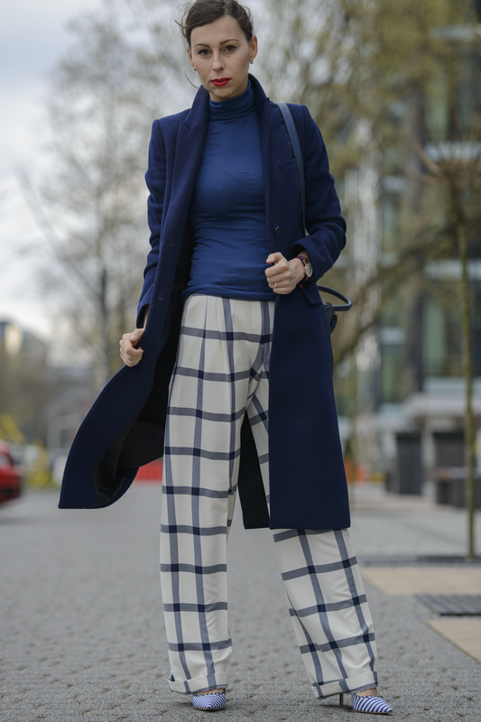 zara checkered pants streetstyle