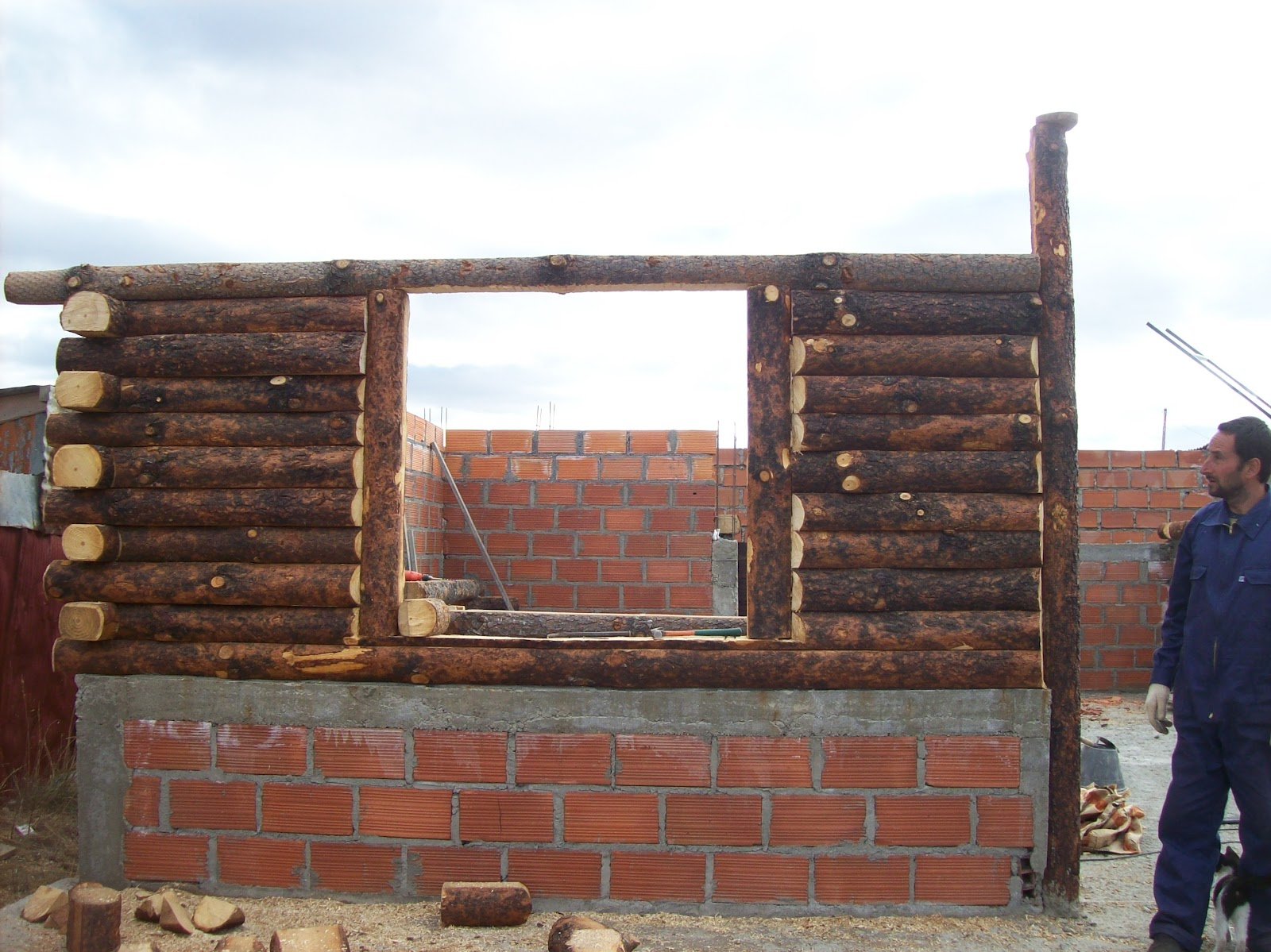 E s t i l o p a t a g o n i a construcci n de caba as de - Como hacer una cabana de madera ...