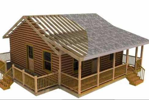 Homes Plans on Free Home Plans   Log Homes Building Plans