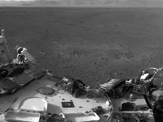 Снимок марсохода  Curiosity на месте приземления