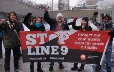 Demonstration against Enbridge Line 9 at Toronto City Hall, Saturday January 26 2013.