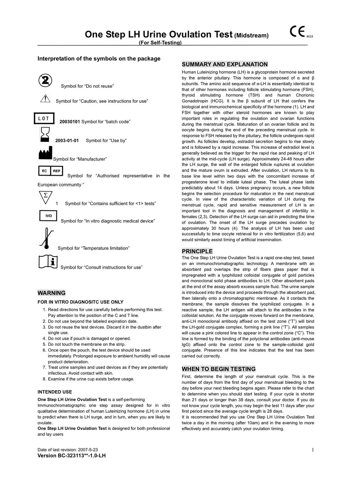 ovulation predictor kit instructions