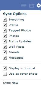 salvar todas minhas informações facebook pc