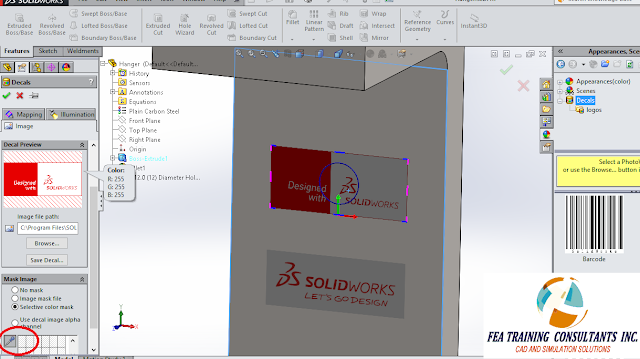 decals in solidworks