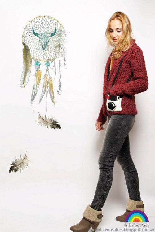 Sacos tejidos invierno 2013 moda