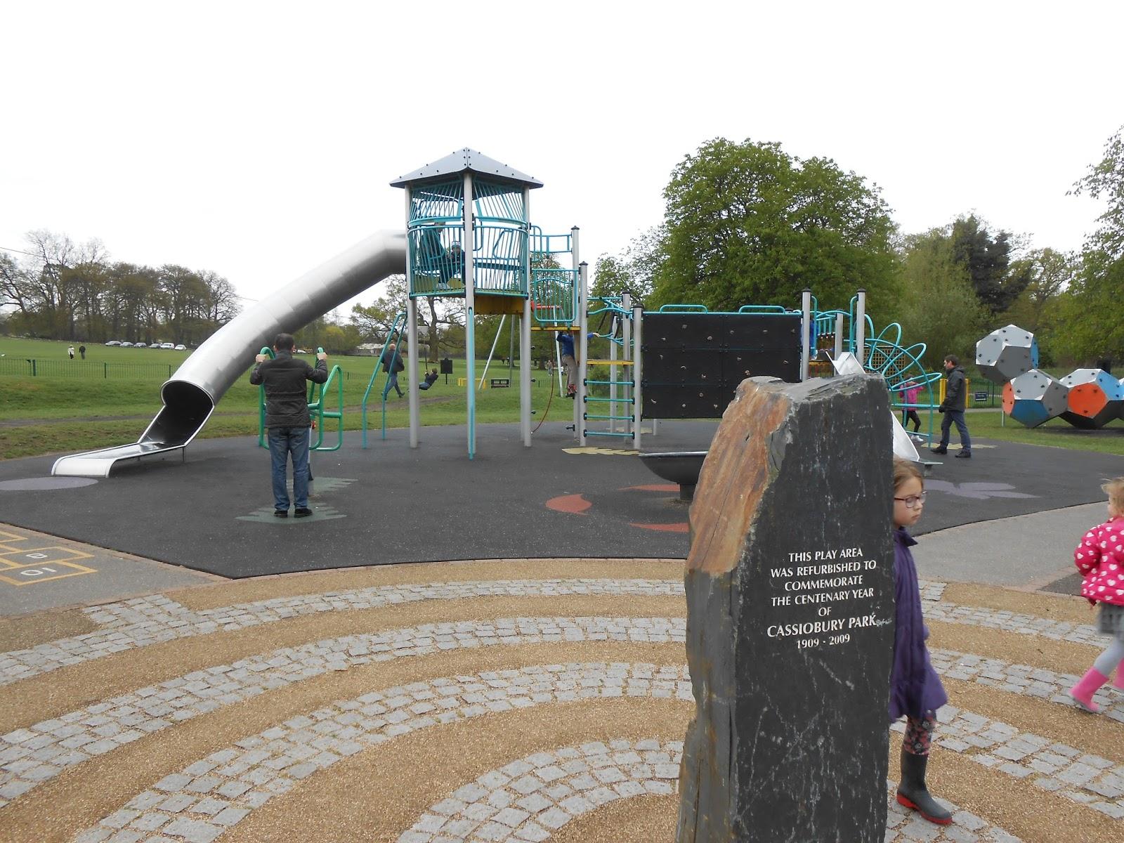 cassiobury park centenary slate marker