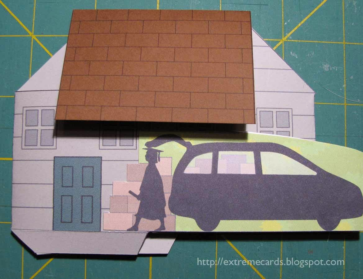 pop up house with elements attached