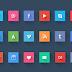 ملف psd أيقونات المواقع الإجتماعية
