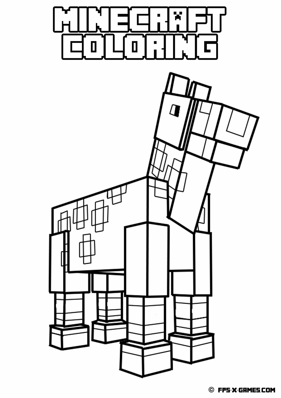 Free Stampylongnose Minecraft Coloring Pages