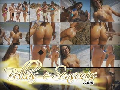 Juliana Salimeni e Nicole Bahls - Praia de Tambaba