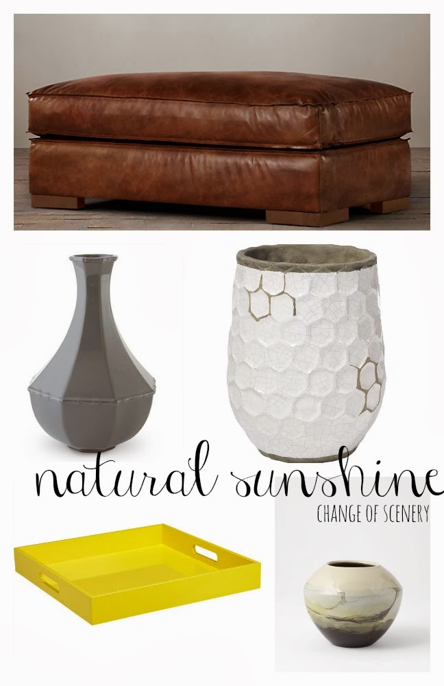 Change Of Scenery Three Ways Using An Ottoman As A Coffee Table