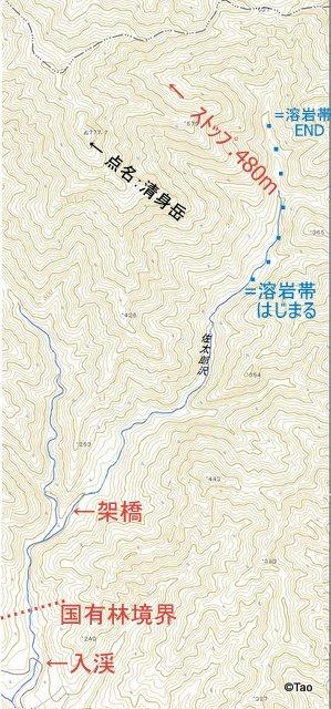 佐太郎沢(5万地質図参照)