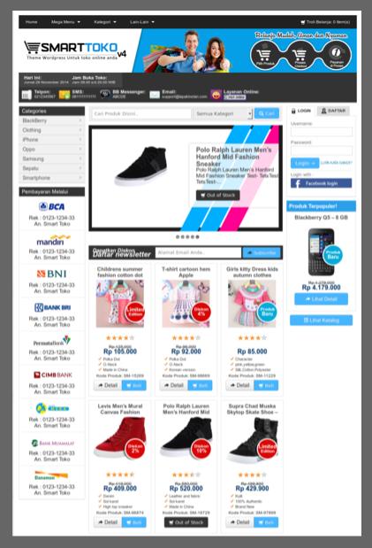 Theme toko online indonesia