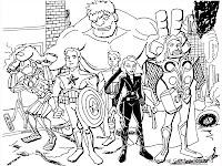 Gambar Kartun The Avenger Untuk Diwarnai