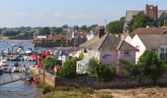 Topsham - looking north from Quay
