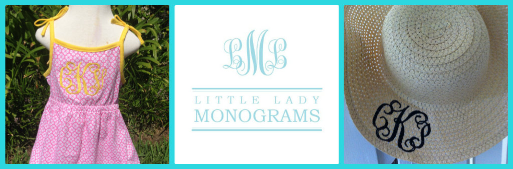 Seamingly Smitten: GIVEAWAY! Little Lady Monograms