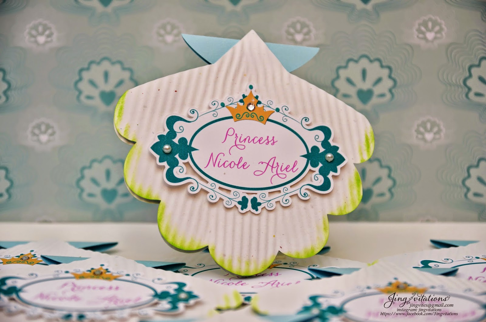 handmade mermaid invitations