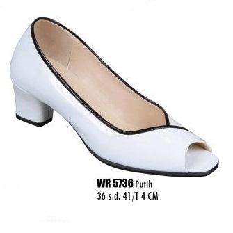 Sepatu wanita murah meriah dan berkualitas warna putih tinggi hak 4 cm ...
