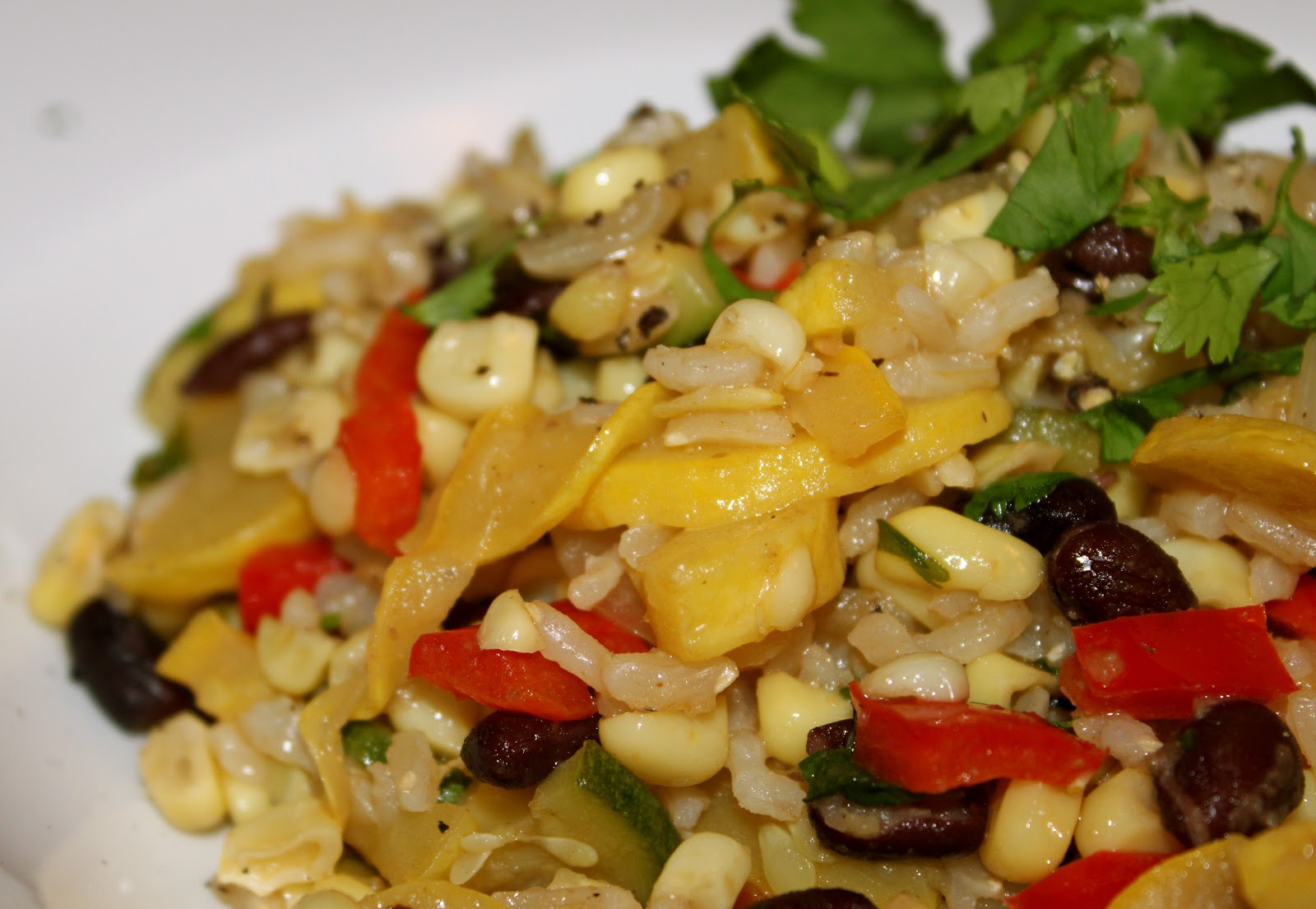 Domestic Divas Blog: Sweet Corn, Squash & Pepper Hash with Black Beans