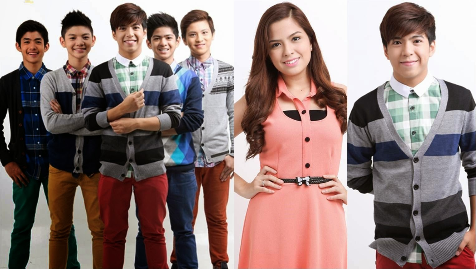 Alexa Ilacad and Nash Aguas with Gimme 5