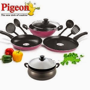 Flipkart: Buy Pigeon Non Stick Cookware 40% to 63% off from Rs. 339